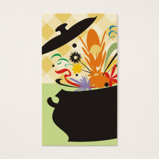 cooking pot flavour burst chef catering business business card