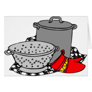 Cooking Pot & Strainer Card