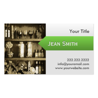 Cooking Sauces & Kitchen Cabinet Business Card