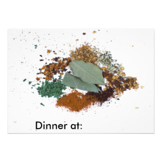 Cooking Spices Invitations