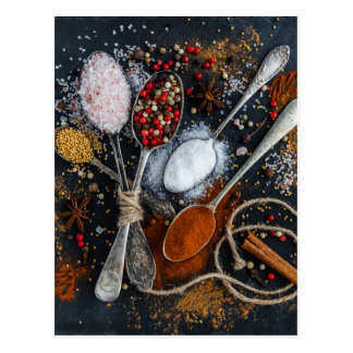 cooking spices postcard