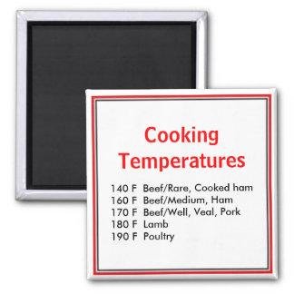 Cooking Temperature Magnet
