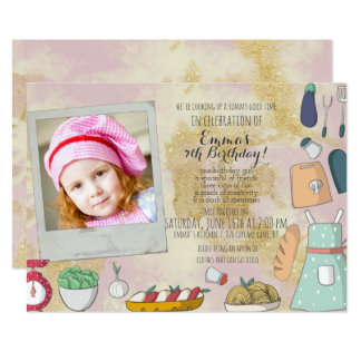 Cooking Themed Party Invitations