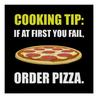 Cooking Tip Pizza Poster