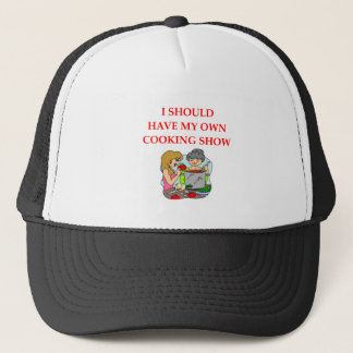 cooking trucker hat