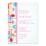 Cooking Utensils Stock the Kitchen Bridal Shower 13 Cm X 18 Cm Invitation Card