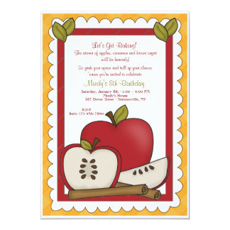 Cooking With Apples Invitation