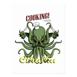 Cooking with Cthulhu Postcard