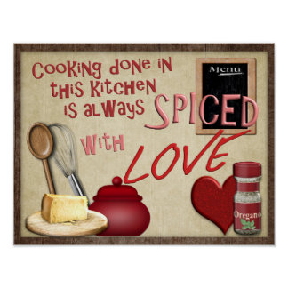 Cooking With Love -- Art print