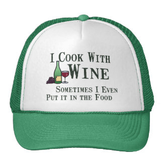 Cooking with Wine Trucker Hat