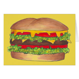 Cookout Hamburger Burger Cheeseburger Fast Food Card