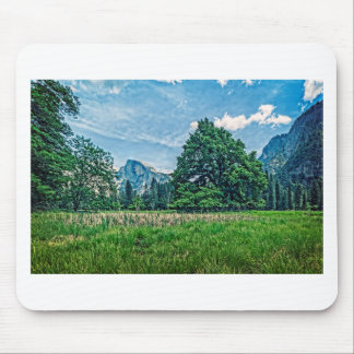 Cook's Meadow View of Half Dome Mouse Pad