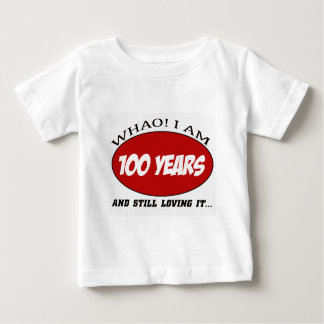 cool 100 years old birthday designs baby T-Shirt