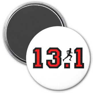 Cool 13.1 half marathon 7.5 cm round magnet