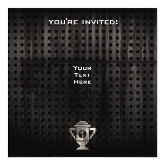Cool 1st Place Trophy 13 Cm X 13 Cm Square Invitation Card