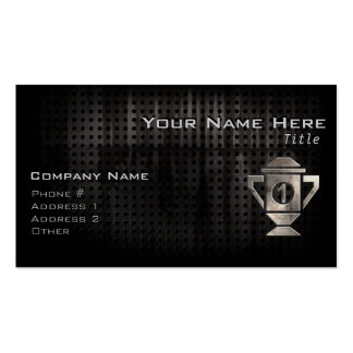 Cool 1st Place Trophy Business Card Template