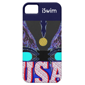 Cool 2013 USA Sports iSwim iPhone 5 Case