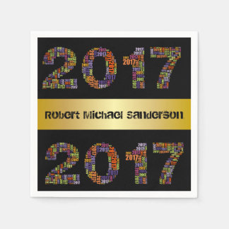 Cool 2017 Personalized Graduation Disposable Napkins