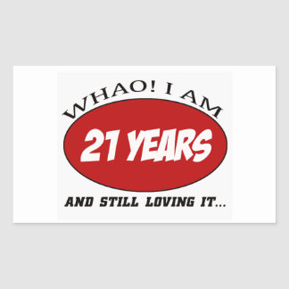 cool 21 years old birthday designs sticker