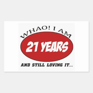 cool 21 years old birthday designs sticker