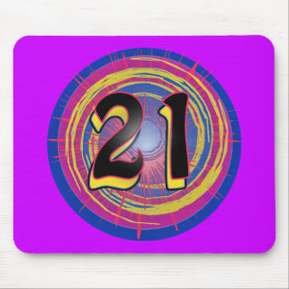 Cool 21st Birthday Design Mouse Pad