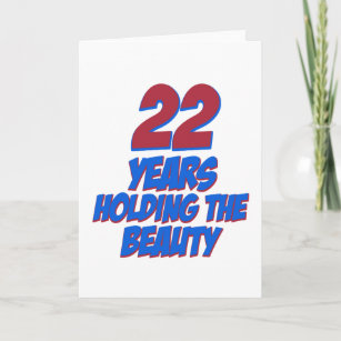 Cool 22 Years Old Birthday Designs Card