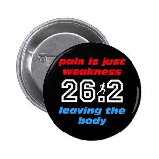 Cool 26.2 marathon 6 cm round badge