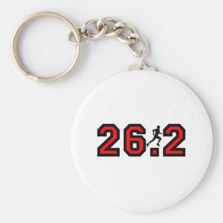 Cool 26.2 marathon basic round button key ring