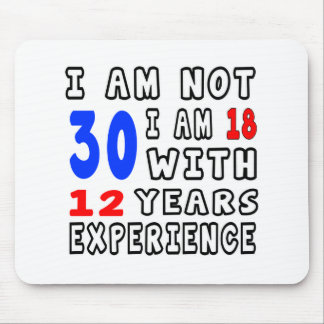 Cool 30 Birthday Designs Mousepads