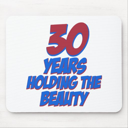 cool 30 years old birthday designs mouse pad