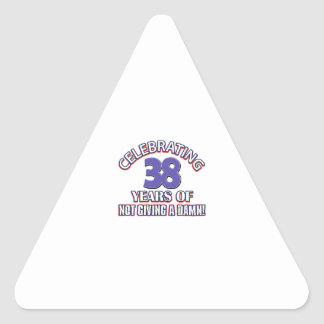 Cool 38 year old designs triangle stickers