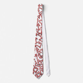 Cool 3D Candy Canes on Fun White Christmas Tie