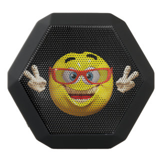 Cool 3d  emoticon with peace sign speaker
