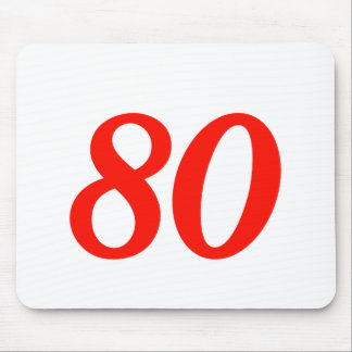Cool 80th Birthday Gifts Mouse Pad