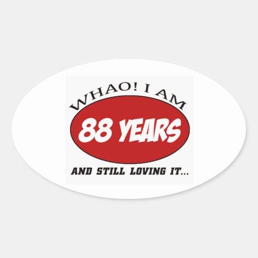 cool 88 years old birthday designs sticker