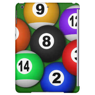 Cool 8 Eight Ball Pool Balls Billiards Manly iPad Air Cover