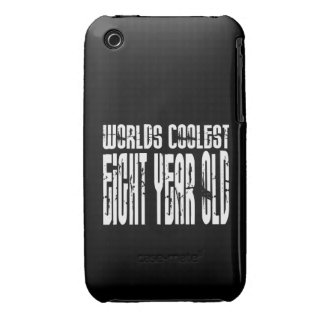 Cool 8th Birthdays Worlds Coolest Eight Year Old Case-Mate iPhone 3 Cases