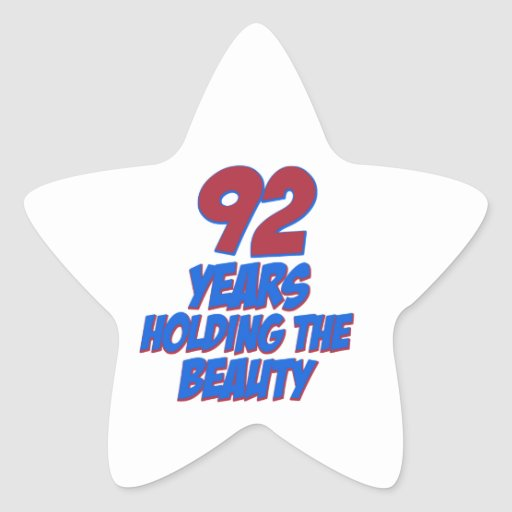 cool 92 years old birthday designs stickers