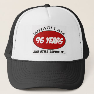 cool 96 years old birthday designs trucker hat