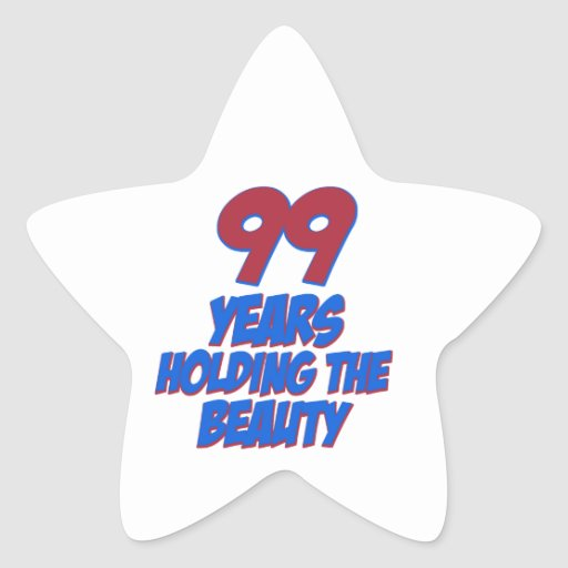 cool 99 years old birthday designs stickers