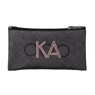 Cool Abstract Black Textured Add Initials Bag