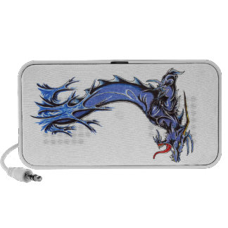 Cool Abstract Blue Water Drake doodle speaker