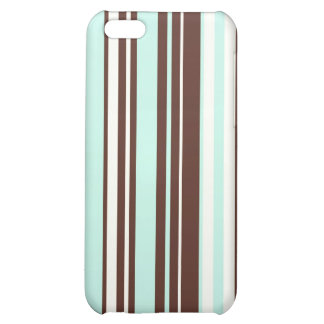 Cool abstract chocolate  mint stripes iPhone case iPhone 5C Cover