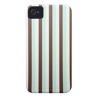 Cool  abstract chocolate  mint stripes iPhone case iPhone 4 Cases