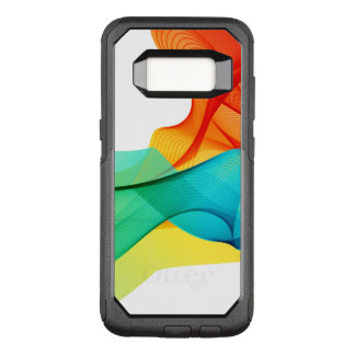 Cool Abstract Colorful Dynamic Wavy Lines OtterBox Commuter Samsung Galaxy S8 Case
