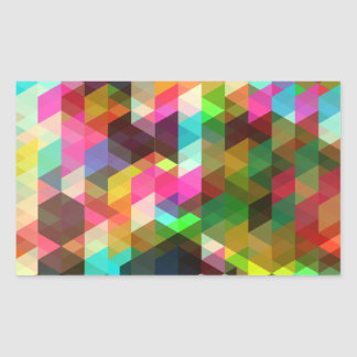 Cool Abstract Colorful Geometric Vector Pattern Rectangle Sticker