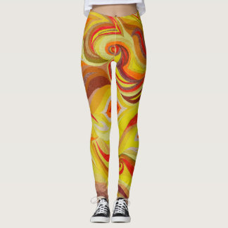 Cool abstract fire leggings