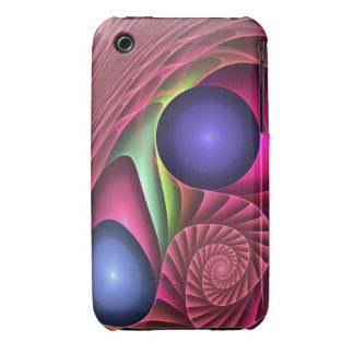 Cool abstract fractal case Spiral and bubbles iPhone 3 Cases