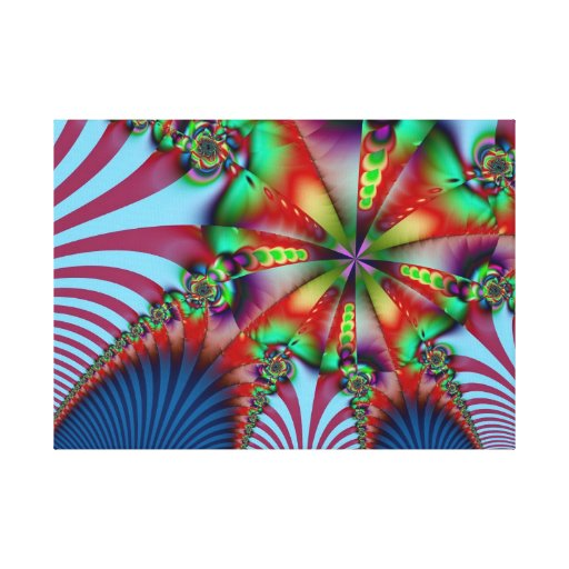 Cool Abstract Fractal wrapped Canvas Gallery Wrap Canvas