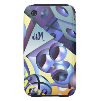 Cool Abstract iPhone 3 3G/3GS case-mate with name iPhone 3 Tough Covers